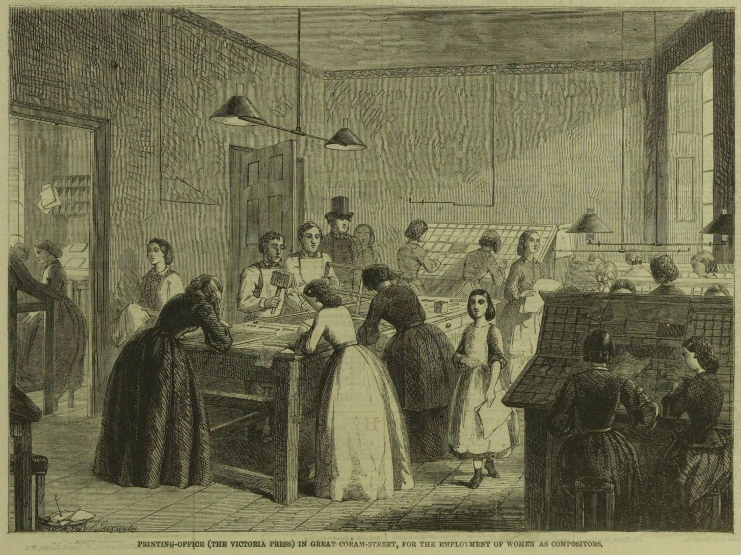 The Victoria Press in the *Illustrated London News*